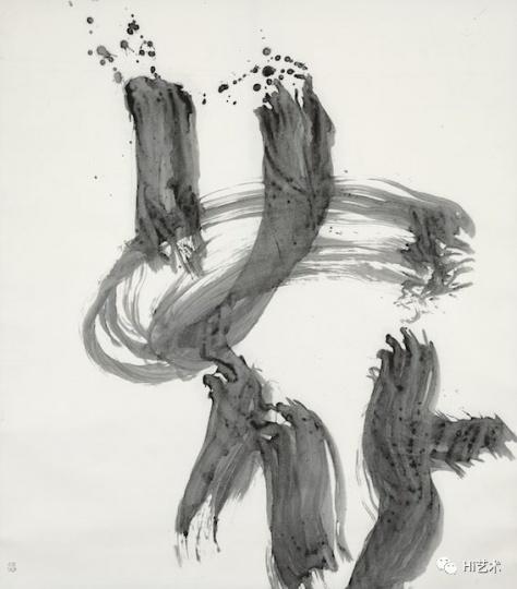 井上有一《花》164.2x144.8cm 水墨纸本立轴 1968