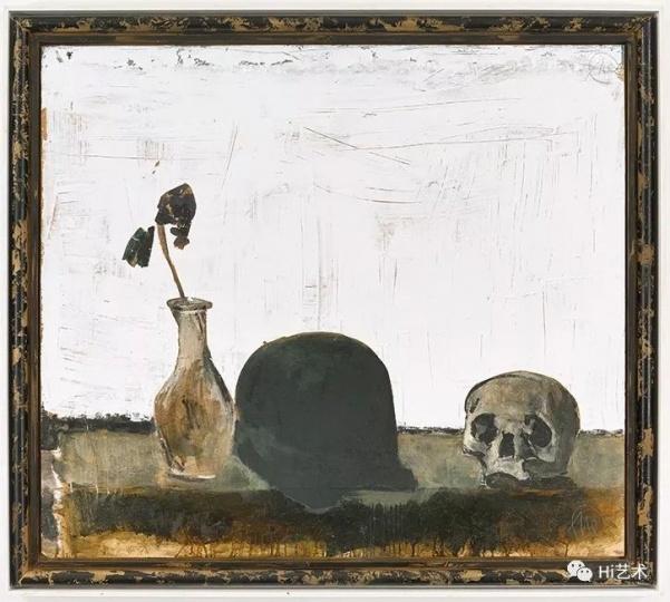 马库斯·吕佩尔茨《位于泰尔托的桌子I》144x165cm木板油画 2010