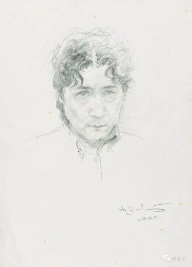 何多苓的《自画像》 2000