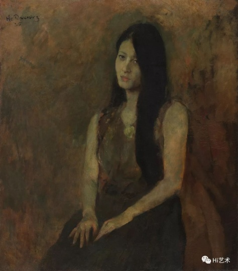 《唐蕾肖像》 78.7x69cm 布面油画 1985
