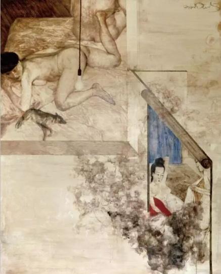 《后窗二》160x130cm布面油画1997