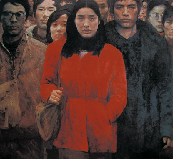 何多苓、艾轩合作 《第三代人》 177x187cm 1984