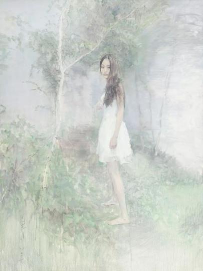 《叶下》200x150cm 布面油画2014