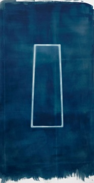 《消逝与弥散》210x110cm蓝晒,独版2018