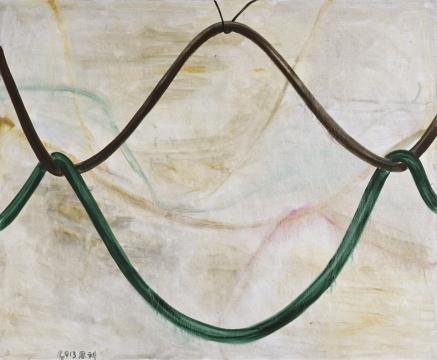 张恩利 《弹力 2》 230x280x5cm 布面油画 2013