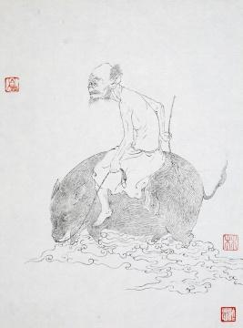 《谜谈No.56》 23×17.5cm 宣纸水墨 2017