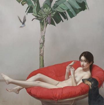 李贵君《万物有灵》160x160 布面油画 2018