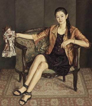 杨飞云《青岛女孩》160x140cm,2013年