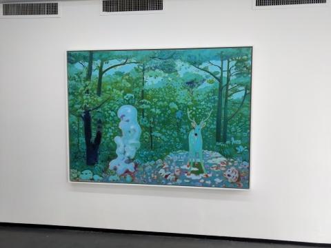 《夏鹿图》150x200cm 布面油画 2017