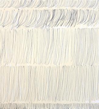 李健镛 《身体描绘 76-1-2017》171 x 151 cm布面铅笔,丙烯2017