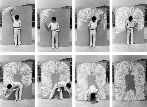 李健镛《身体描绘 76-2》20.4 x 30.3 cm照片1976