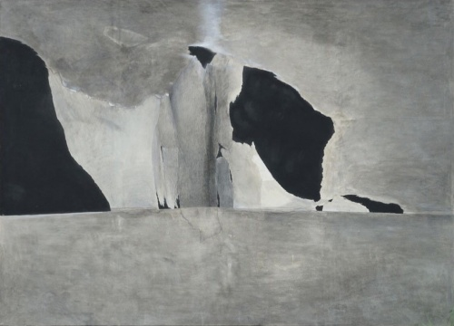 何健《风景 2》150 x 180 cm 布面纸本综合材料 2015