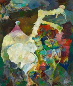 伯纳德·舒尔茨《真实》140 x 120 cm 布面油画 1989