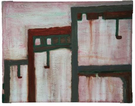 石峻《重叠》70 x 90 cm 布面油画 2018