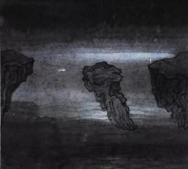 林于思 《子时随笔No.8》46.5×36.5cm 纸本设色 2015 东京画廊