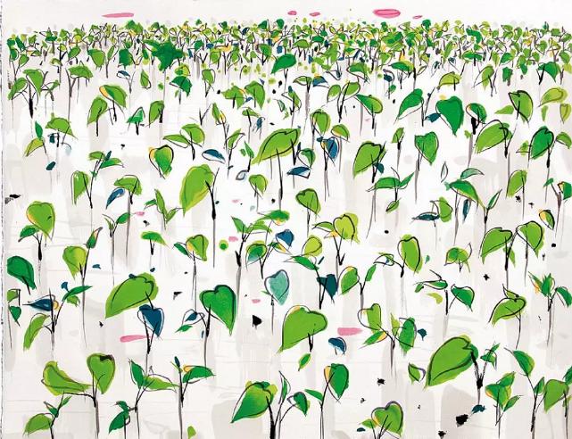 吴冠中《无题》80.5X95.5cm 丝网版画 2007 百雅轩艺术空间