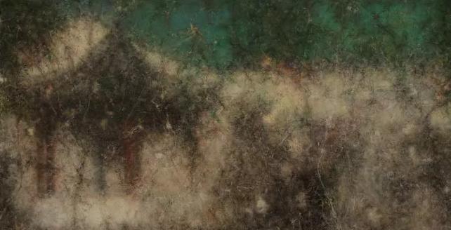 肖芳凯 《景物•园林卷》78×138cm  布面油画 2017 桥舍画廊