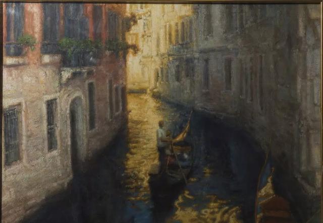 陈逸飞《威尼斯水乡》58×77 cm 布面油画 北京渥德艺术中心
