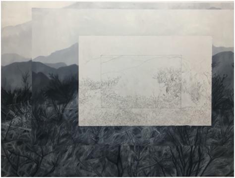 何塞•佛罗 《在一张匿名绘画中失去表现公尺》 160 x 120cm 布面油画 2018