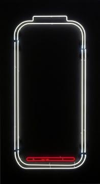 《5%》 布面丙烯、玻璃管霓虹灯 200 x 110 cm 3版+1AP 2018