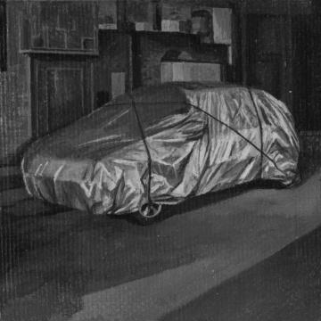 《Packed car》 布面丙烯 7×7 cm 2015