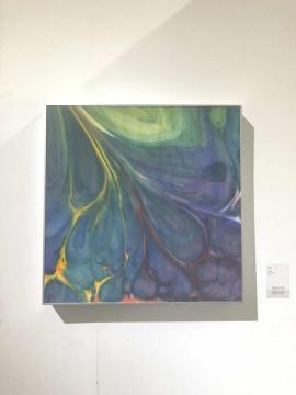 朱雨泽 《玄远》 67x67cm 纸本设色 2017