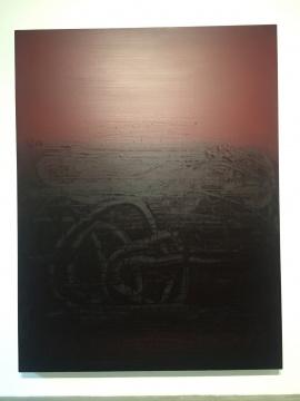 杨黎明 《时空流韵NO.32》 280×215cm 布面油画 2018