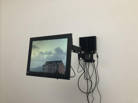 蒋竹韵《全景与凝视》眼球跟踪仪,显示器,电脑互动装置尺寸可变 2018