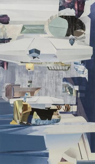朱烨 《暖层》 270×155cm 布面丙烯 2017