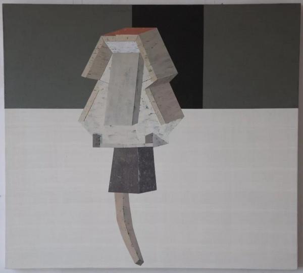 朱烨 《风盾》 100×95cm 布面丙烯 2013