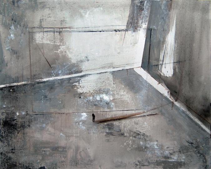 刘超《镜子中相拥的人 NO.2》 150×120cm 布面油画 2013
