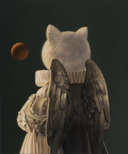 张凯《小世界》30×25cm 布面油画 2018
