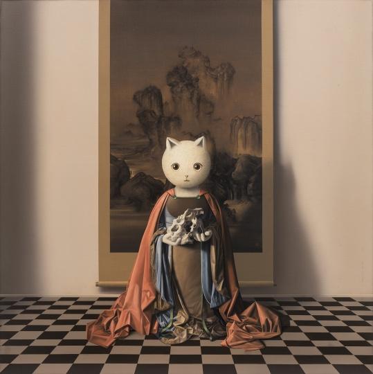 张凯《林泉高致》120×120cm 布面油画 2018