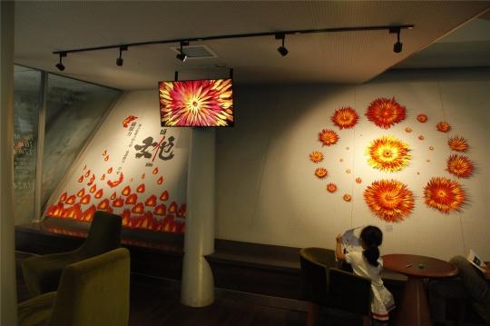 周圣崴动画电影《女他》艺术展,北京百老汇电影中心现场