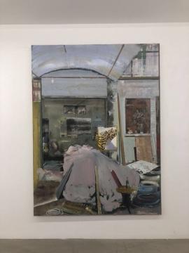 尹朝宇 《室内景》 200x150cm 布面油画、丙烯 2015