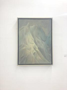 尹朝辉 《嵩岩岭》 74x55cm 布面油画 2018