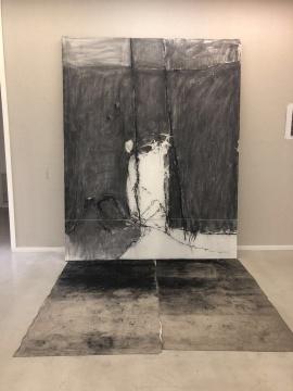 吕岩 《无题》 250x200cm 布面综合材料 2018