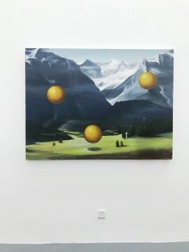 杨蕊的作品像一个抽象的现场,营造的现场观感暧昧不清,相互之间关系都像是物件和物件的平行,彼此没有关联。