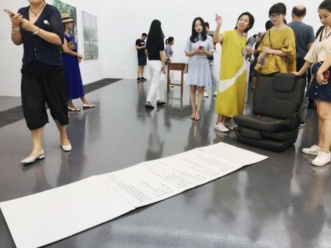 杨蕊在展览现场