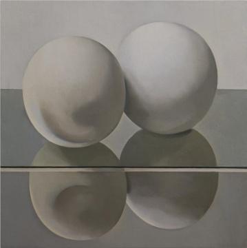 刘聪,《有限》,布面油画,120x120cm,2017