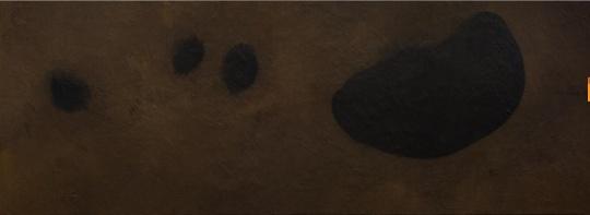 闫冰,《半夜》,布面油画,80cmx220cm,2017