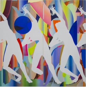 叶凌瀚,《LUCY-W-002》,布面丙烯,300x300cm