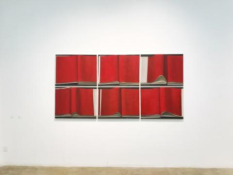 《红书》 80cm×60cm×6 布面油画 2017