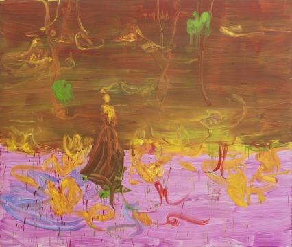 《untitled》布面蛋彩蜡笔油画 200 × 240 cm 2018