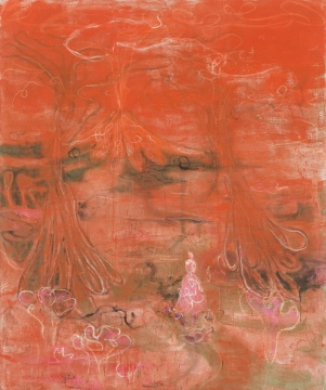 《vrages nocturnes (under the volcano) 》 布面蛋彩蜡笔水粉油画 240 × 200 cm 2018
