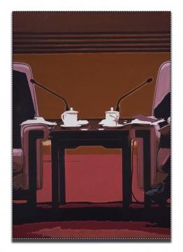 杨振中《静物与风景 #31》油画200×142.5 cm2018