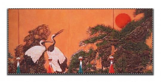 杨振中《静物与风景#3 》油画67.2×150 cm2018