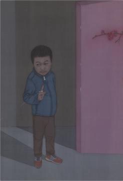 栗玉莹《重屏二》86x56cm 绢本设色 2017