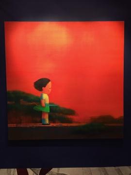 刘野 《红3号》 195×195cm 亚克力画布 2003  估价:700万-900万港元
