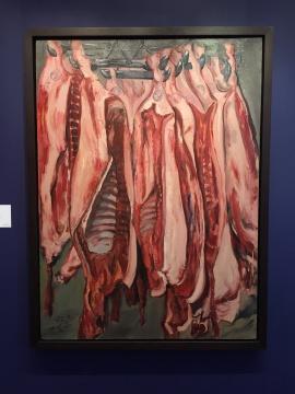 曾梵志 《肉》 130×95cm 油画画布 1992  估价:1000万-1500万港元